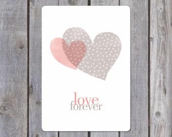 Postal card {Love forever}