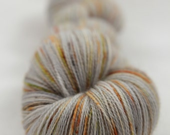 Hand-dyed yarn - superwash merino - lace - dyed-to-order - speckles - GRENIER