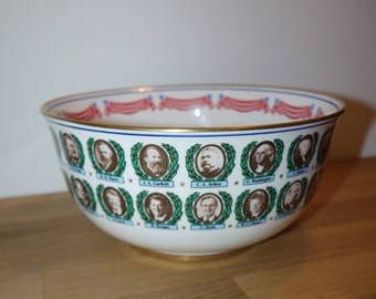 Presidential Bowl - 1993 - American Presidents - USA - Historical Society - Collectible -