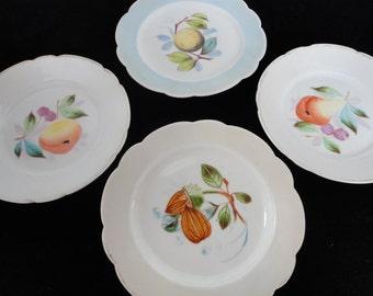 Four Vintage Fruit Plates