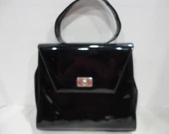 Black Patent Leather Handbag