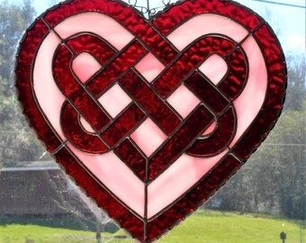 Stained Glass Celtic Knot Heart - Handcrafted in Tennessee
