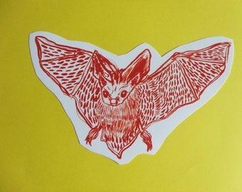 Bat Large Vinyl Sticker