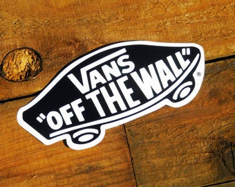 Vintage 80s Vans Off The Wall Skateboard Sticker LG