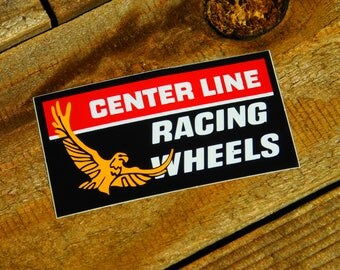 Vintage Original 80's Center Line Racing Wheels Hot Rod Sticker Decal