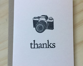 vintage inspired folded note cards and envelopes, stationery set, thank you card, thanks, camera, set of 10