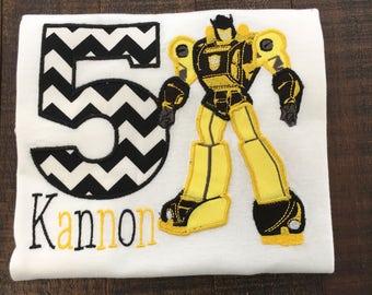 Personalized Robot Hero Birthday Shirt, Onesie, Romper or Dress
