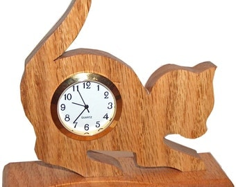 Cat clock etsy - Kitty cat clock ...