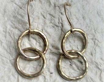 Gold Filled Hoop Earrings,14 Karot Gold Fill Earrings, Minimalist Hoop Earrings, Hoop Earrings