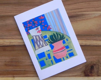 Flower still life painting, Eight blank notecards and envelopes