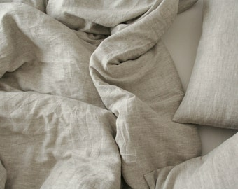Natural Linen Color Duvet Cover / Natural Linen/ Softened Linen/ Natural Color/Melange
