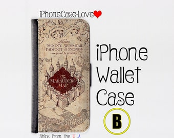 iphone 5 wallet case , iphone 5s wallet case , iphone 5c wallet case , iphone 5 case , iphone 5s case , iphone 5c case - Harry Potter B