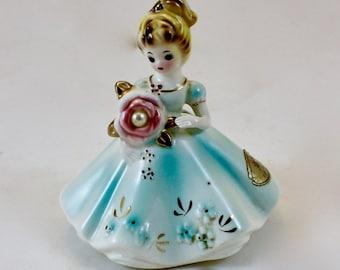 Vintage Josef Originals Ceramic June Birthday Pearl Dolls Series/ Made in Japan