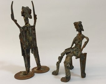 1966 Demagogue Brutalist Metal Sculpture Feminist Movement