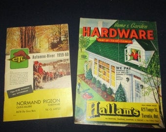 2 hardware store catalogs,1950-1960