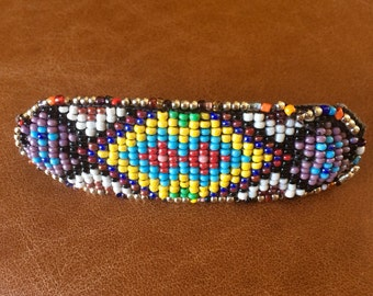 Native American beaded hair clip