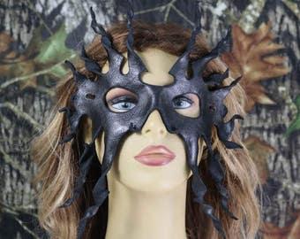 leatherblack tentacal mask