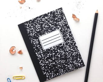 Composition Notebook Screenprinted Card