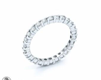 Diamond Wedding ring, Full Eternity Diamond Band, Twenty Sixth Anniversary Ring, Eternity Band, Anniversary Diamond Band | LDR02467