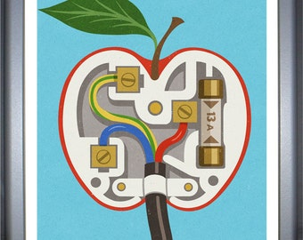 Apple plug, signed limited edition print