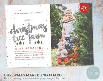 Christmas Tree Farm - Christmas Mini Session Template - Photoshop template - IC039 - INSTANT DOWNLOAD