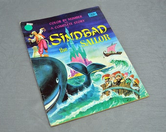 Vintage Sinbad the Sailor Color by Number Book