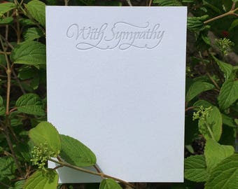 Sympathy Notecard (Letterpressed Calligraphy)
