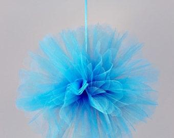 "12"" Tulle flower ball Turquoise"