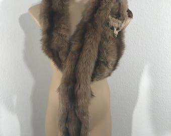 VINTAGE 1950s Set 4 Pelt Red Fox Full Body Fur Scarf Wrap Neiman-Marcus