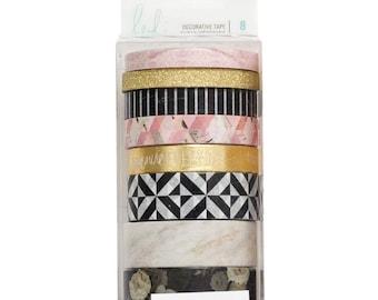 Heidi Swapp Magnolia Jane Washi Tape Rolls - Set of 8 - Washi Tape - Planner Washi Tape, Stickers