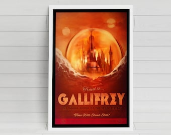 Gallifrey signed Poster Art Print - 11x17
