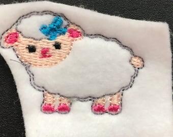 UNCUT Easter Lamb feltie