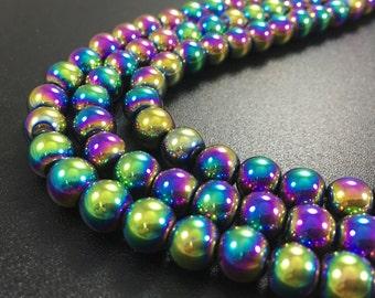 8 mm Hematite Beads, Hematite Jewelry ,craft supplies , wholesale beads