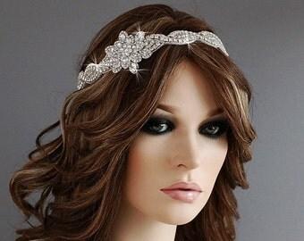 Gatsby Bridal Headpiece Headband Beaded Wedding Head Band Weddings Jewelry Hair Piece Bride Party Gift Accessories Crystal Jewelry Accessory