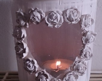 Vintage motion + Shabby Chic candle + table decorations