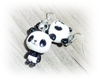 Earrings Panda bear