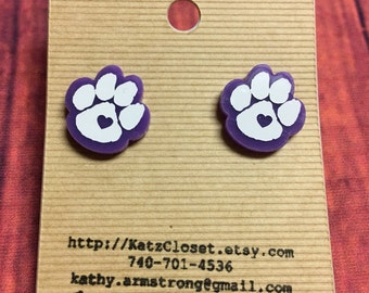 Earrings to support your team! Can do your sport and your number! Or your childs number!