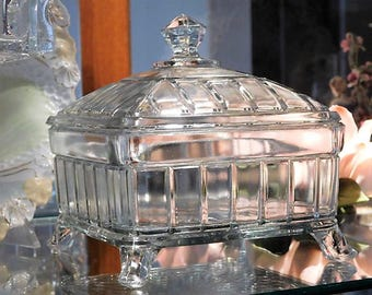 EAPG Victorian 1800s Covered Butter Dish Honey Dish
