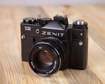 Film Camera Zenit 12. Rare Camera zenit 12. SLR Film camera. Working camera.