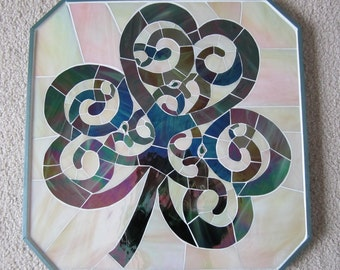 Shamrock Glass Art Mosaic St. Patrick's day decoration