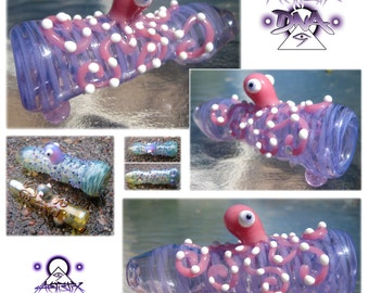 Custom Glass Chillum - Custom Writting - Custom Colors - Custom Detail - Custome Design