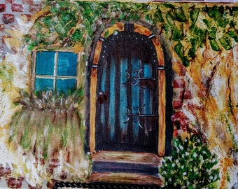 Tuscan Door (The Art Sherpa) Italy, acrylic painting