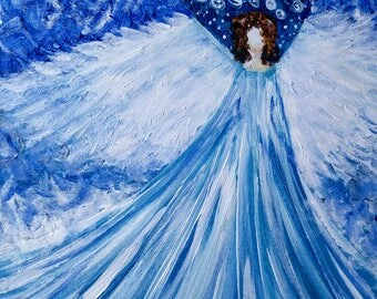 acrylic snow angel (painting with jane) acrylic painting