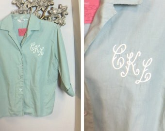Vintage Dalton 50's Monogrammed blouse