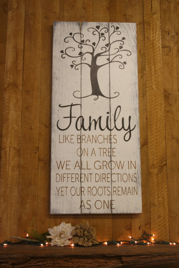Wood Sign Family Like Branches On A Tree Pallet Sign Family