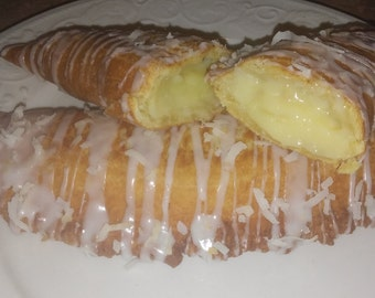 Coconut Fried Pies 1/2 doz.Amish style/Edible gift/Baked goods/Party favors/Hand held pies/Fruit pies