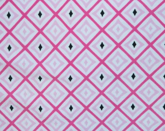"Pinks Geometric Print #546 4 Way Stretch Swimwear Activewear Cosplay Nylon Spandex Lycra Craft Fabric 58""-60"" Wide By The Yard"