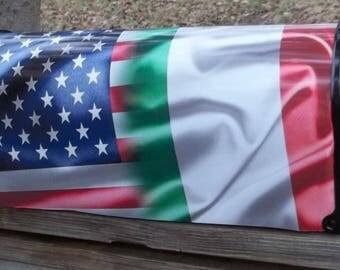American-Italian Flag Mailbox