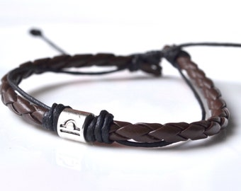 Brown leather silver Balance