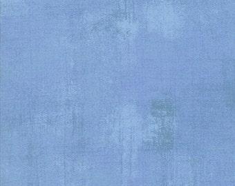 Moda Basic Grey Grunge Powder Light Blue 30150-347 Fabric BTY 1 yd